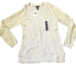 Gap Side Slits Ribbed Pet And Smoke Free Knit Tunic
