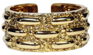 David Webb David Webb Textured Gold Cuff Bracelet