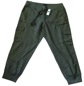 Gap Drawstring Pet And Smoke Free Side Pockets Cargo Pants Green