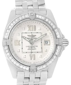 Breitling Breitling Cockpit Diamond Dial Bezel Womens Watch A71356 Box papers