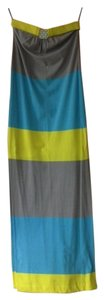 Blue, Gray, Yellow Maxi Dress by Trina Turk