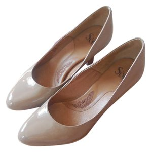 Erosoft by Sfft Faux Patent Cushioned Instep Sand Pumps