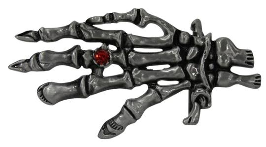 Preload https://img-static.tradesy.com/item/17148724/silver-red-men-women-metal-trendy-buckle-big-skeleton-hand-skull-halloween-belt-0-1-540-540.jpg