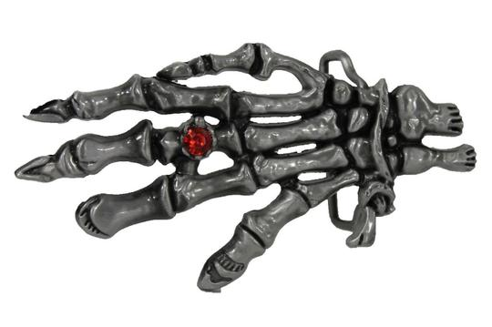 Alwaystyle4you Men Women Metal Trendy Belt Buckle Big Skeleton Hand Skull Halloween Image 2
