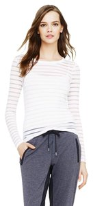 Club Monaco See Through Striped T Shirt White