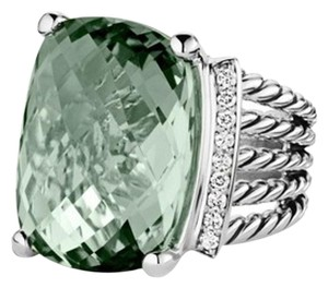 David Yurman Wheaton Ring with Prasiolite and Diamonds