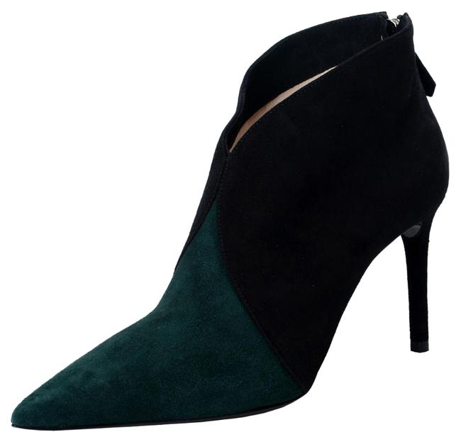 Item - Black & Forest Green Women's Suede Leather Ankle Boots/Booties Size US 8 Regular (M, B)