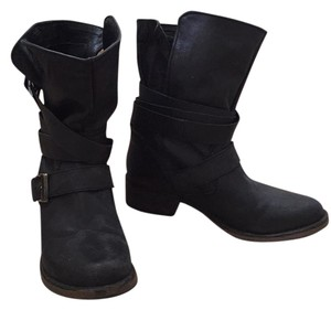 Steve Madden Buckle Black Boots