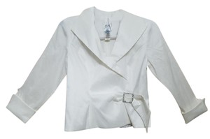 Xscape Polyester White Jacket