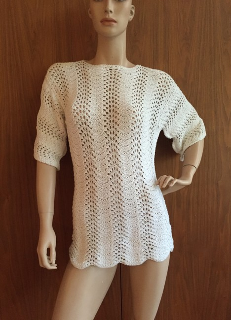 Other Crochet Vintage Knit Tunic Sweater Image 2
