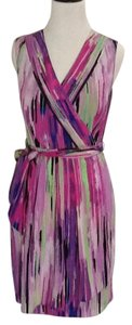 Catherine Malandrino short dress multicolor Faux Wrap Purple on Tradesy