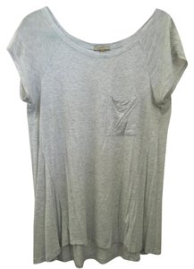 Anthropologie Casual Bordeaux T Shirt Gray