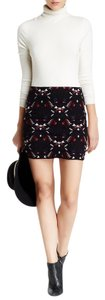 Willow & Clay Mini Embroidered Mini Skirt BLACK
