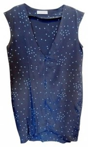 Geren Ford short dress Navy polka dot Silk V Neck Shift on Tradesy