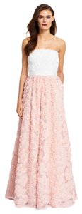 Adrianna Papell Bridal Bridesmaid Wedding Prom Blush Dress
