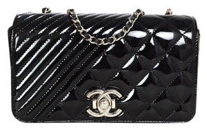 Chanel Patent Leather Front Flap Cross Body Bag