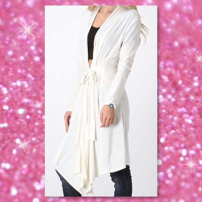 Other Boho Comfy Duster Seamless Tie Waist Cardigan Image 2