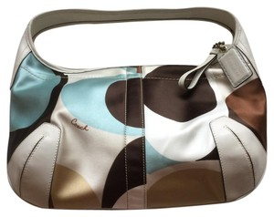 Coach Satchel in White And Multicolored