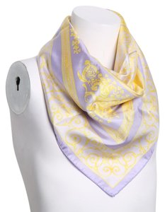 Versace * Versace purple and yellow multicolor scarf