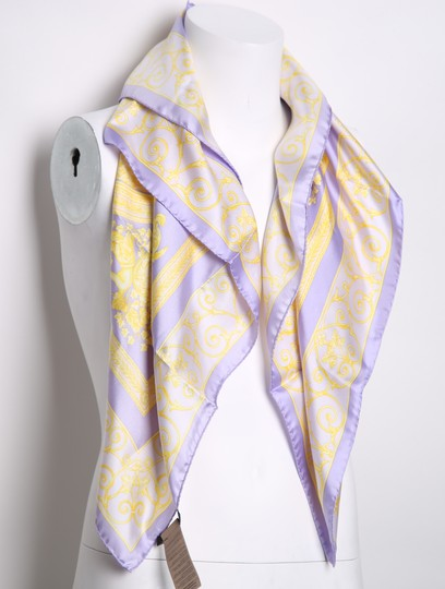 Versace * Versace purple and yellow multicolor scarf Image 1
