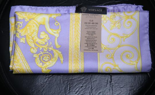 Versace * Versace purple and yellow multicolor scarf Image 2