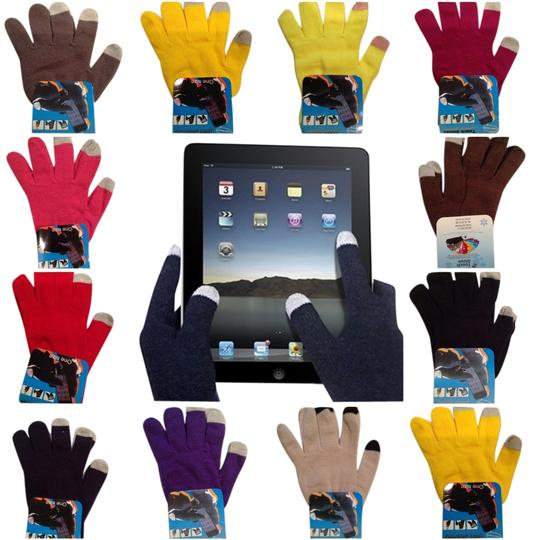 Other Hot Pink - 14 Colors Magic Touch Screen Gloves Smartphone Texting Stretch Winter Knit Warm