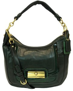 Coach Leather Kristin Green Spectator Hobo Bag