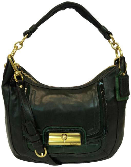 Coach 18287 Kristin Spectator Pine (Green) Leather Hobo Bag Coach 18287 Kristin Spectator Pine (Green) Leather Hobo Bag Image 1