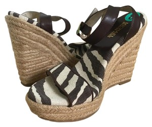 MICHAEL Michael Kors Zebra Casual Brown Wedges