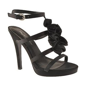 Evenings By Allure Black Mirage Prom Or Sandals Size US 6.5 Regular (M, B)