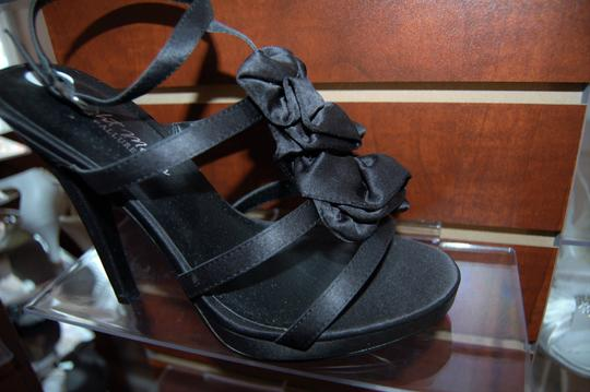 Evenings By Allure Black Mirage Prom Or Sandals Size US 6.5 Regular (M, B) Image 2