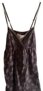 Abercrombie & Fitch Back Tie Summer Layering Top Brown