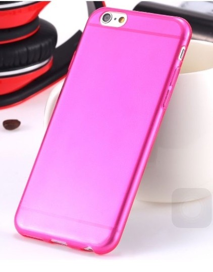 "Other Hot Pink - IPhone 6 4.7"" TPU Rubber Gel Ultra Thin Case Cover Transparent Glossy 10 Colors Available"