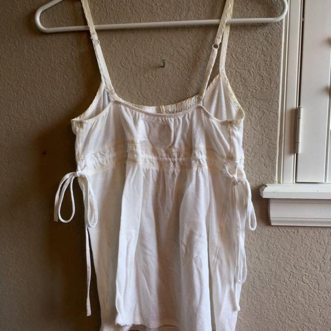 Abercrombie & Fitch Side Ties Button Down Vintage Top White Image 3