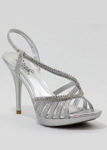 Coloriffics Sizzle Danube Silver Sparkle Wedding Shoes