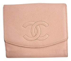 Chanel Pink Caviar Leather Wallet CCWLM3
