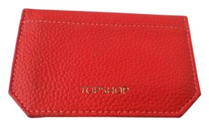 Topshop TOPSHOP Orange leather Card Sleeve