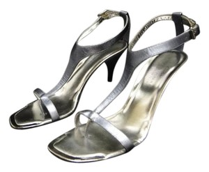 Donald J. Pliner Strappy New silver metallic blue Sandals