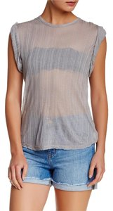 Free People Muscle Sheer T Shirt GREY