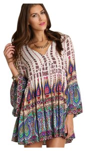 Other short dress Multi Color Pattern Bohemian Free People Oversized Gypsy Relaxed on Tradesy