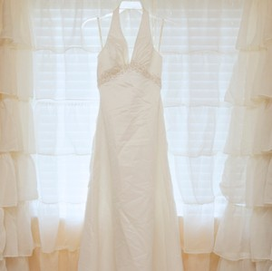 Galina Ivory Satin Sexy Wedding Dress Size 6 (S)