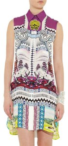 MARY KATRANTZOU short dress Purple Silk Print Spring Summer on Tradesy