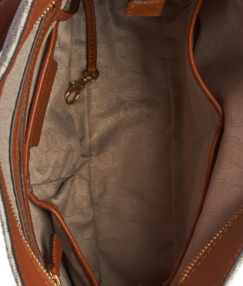 ab34db421e3a ... clearance michael kors monogram coated canvas leather serena hobo bag.  123456789101112 bdd0d f6ac8