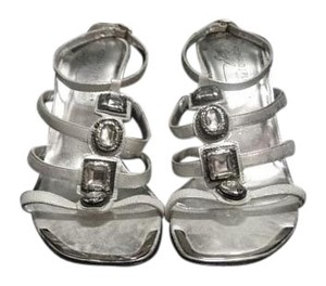 Donald J. Pliner New Jeweled Strappy silver Sandals