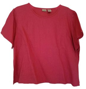 L.L.Bean Linen Top Rose