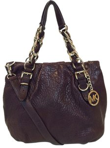 Michael Kors Leather Tote Chain Weaved Crossbody Shoulder Bag