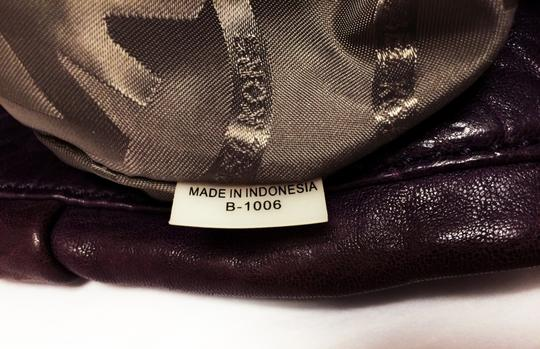 Michael Kors Leather Tote Purple Chain Weaved Crossbody Shoulder Bag Image 4