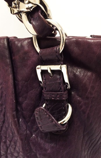 Michael Kors Leather Tote Purple Chain Weaved Crossbody Shoulder Bag Image 7