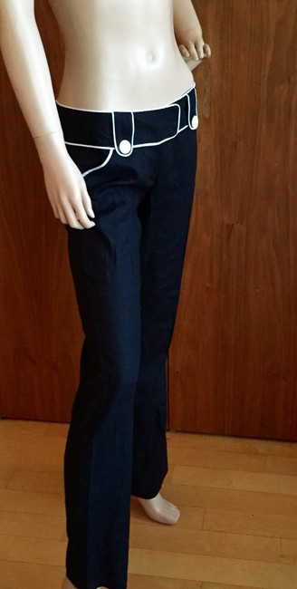 Alice + Olivia Straight Pants black and white Image 4