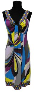 Donna Morgan short dress multi Blue Summer Office Work on Tradesy